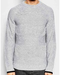 Another Influence - Gray Intarsia Stripe Jumper for Men - Lyst