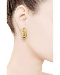 Seaman Schepps | Green Cabochon Peridot Earrings | Lyst