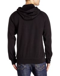 DKNY - Black Graphic Logo Fleece Hoodie for Men - Lyst