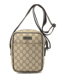 Gucci | Natural Gg Coated Canvas Shoulder Bag for Men | Lyst