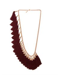 Eddie Borgo | Red Silk Tassel and Goldplated Necklace | Lyst