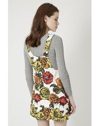 TOPSHOP | Multicolor Nadine Pinafore Dress By Motel | Lyst