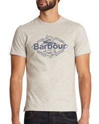 Barbour | Gray Harbour Cotton T-shirt for Men | Lyst
