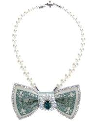 Bijoux De Famille | White 'miss Hepburn' Necklace | Lyst