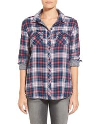 Beach Lunch Lounge | Blue Double Face Woven Plaid Shirt | Lyst
