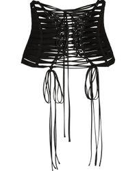 Dolce & Gabbana   Black Grosgrain And Satin Corset Belt   Lyst