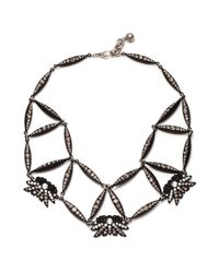 Lulu Frost | Black Larkspur Crystal Web Necklace | Lyst