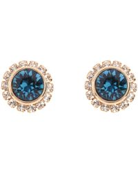 Ted Baker - Blue Sully Crystal Daisy Stud Earrings - Lyst