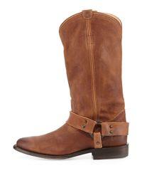 Frye - Brown Wyatt Harness Leather Boot - Lyst