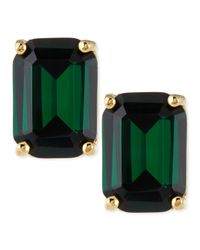 kate spade new york | Green Emerald-cut Crystal Earrings | Lyst