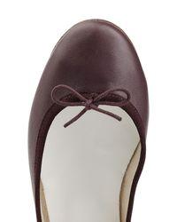 Repetto - Cendrillon Leather Ballerinas - Purple - Lyst