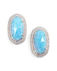 Kendra Scott - Blue 'elaine' Stud Earrings - Lyst