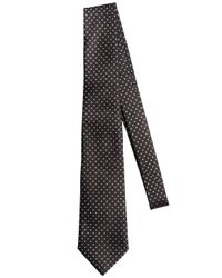 Z Zegna - Gray 6cm Silk Blend Jacquard Tie for Men - Lyst