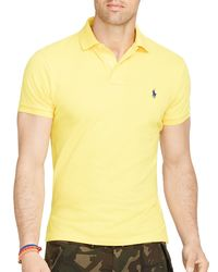 Ralph Lauren - Yellow Polo Classic-fit Mesh Polo Shirt for Men - Lyst