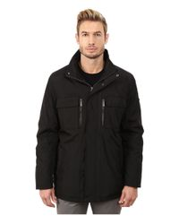 Calvin Klein | Black Poly Jacket With Bib for Men | Lyst