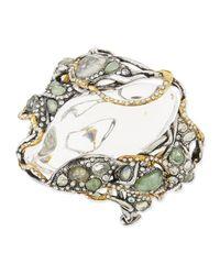Alexis Bittar - White Jardin Mystere Big Crystalcluster Bracelet with Clear Lucite Center - Lyst