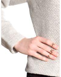 Bjorg | Pink Rose Gold Alphabet Rings A - F | Lyst