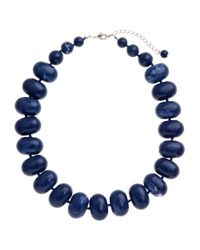 John Lewis | Blue Potato Bead Acrylic Statement Necklace | Lyst