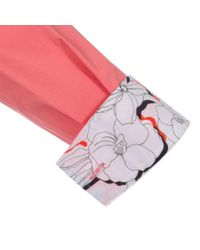 Paul Smith | Pink Women'S Classic-Fit Coral Shirt With Floral Cuffs | Lyst