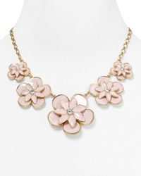 kate spade new york | Pink Graceful Floral Graduated Necklace 18 | Lyst