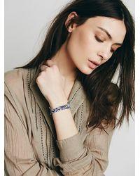 Free People - Blue Dafne Womens Vintage Fabric Bracelet - Lyst