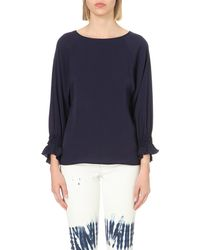 Maje | Blue Lalo Crepe Top | Lyst