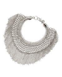 Lydell NYC | Metallic Fringe Mesh Bracelet | Lyst