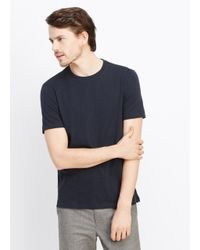 Vince | Blue Favorite Slub Cotton Crew Neck Tee for Men | Lyst