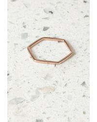 Forever 21 | Metallic By Boe Hexagon Band Ring | Lyst