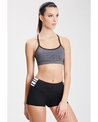 Forever 21 - Black Striped Cardio Shorts - Lyst