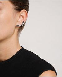 Fernando Jorge | Metallic 18k Oxidised Gold and Black Diamond Lobe Earrings | Lyst
