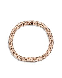 David Yurman | Pink Box Chain Bracelet In 18k Rose Gold for Men | Lyst