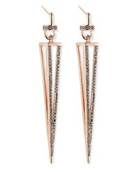 Paige Novick | Metallic Rose Gold Plated Caged Spike Earrings | Lyst
