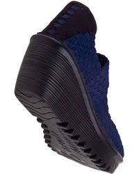 Bernie Mev - Blue Lulia Wedge Navy Fabric - Lyst