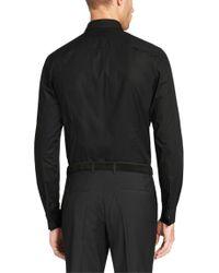 HUGO Black Slim-fit Shirt In Cotton Blend: 'ebly' for men
