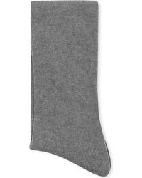 Falke | Gray Cosy Wool Knee-high Socks, Women's, 3399 Grey Mix | Lyst