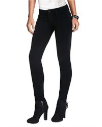 Guess - Black Kate Skinny Corduroy Pants - Lyst