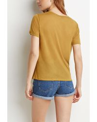 Forever 21 | Green Contemporary Sheer Classic Tee | Lyst