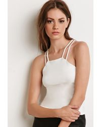 Forever 21 - White Strappy Back Cami - Lyst