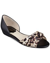 Marc Fisher - Multicolor Dalan Peep-Toe Flats - Lyst