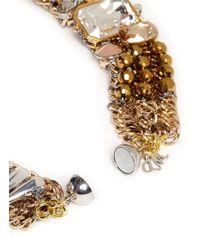 Assad Mounser | Metallic Spike Rhinestone Collar Necklace | Lyst
