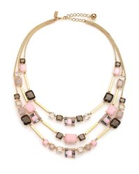 kate spade new york | Metallic Neapolitan Cluster Triple-strand Necklace | Lyst