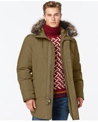 Michael Kors | Green Long Snorkel Down Coat for Men | Lyst