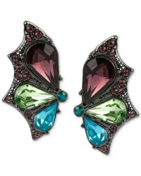Betsey Johnson | Black Hematite-tone Stone Butterfly Wing Stud Earrings | Lyst
