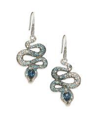 John Hardy - Blue Legends Cobra Semi-precious Multi-stone, Diamond & Sterling Silver Drop Earrings - Lyst