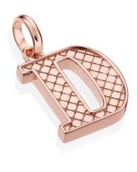Monica Vinader | Pink Rose Gold-plated Alphabet Pendant D | Lyst