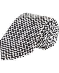 Barneys New York | Black Mini Houndstooth Check Tie for Men | Lyst