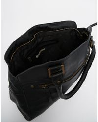 Pieces - Black Leather Carryall Bag - Lyst