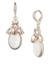 Givenchy | White Cluster Gem Drop Earrings | Lyst