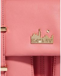 DKNY Active - Pink Nappa Shopper Bag with Zip - Lyst